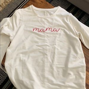 Mama maternity light sweatshirt